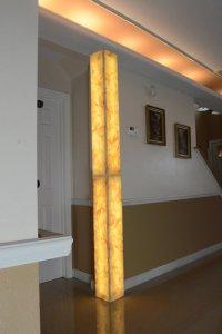 Backlit Modular Corner Column