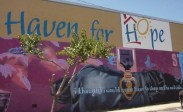 Just one of the wonderful murals outside Haven For Hope..