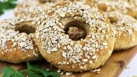 Haferflocken-Bagels