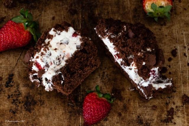 Erdbeer Maulwurf Muffin