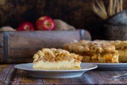 Äpfel-Käsekuchen mit Streusel