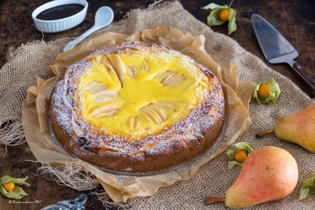 Birnen Vanille-Schmand Kuchen