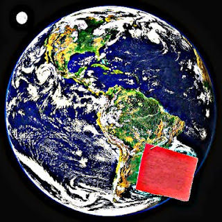 Image: Earth wearing red square