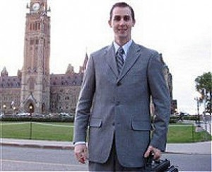 Michael Sona on Parliament Hill