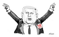 Caricature of Harper as Nixon