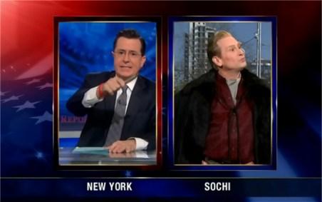 Stephen Colbert and Scott Thompson as Buddy Cole