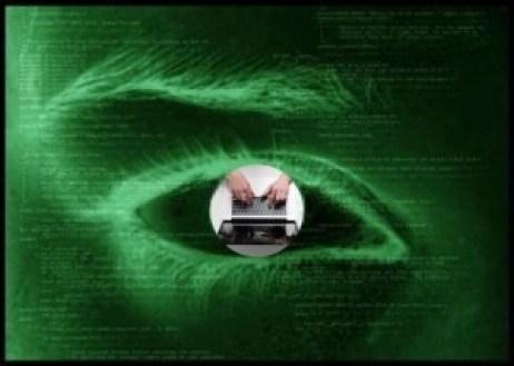 Eye spying on a writer