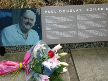 plaque commemorating Paul Douglas, Boilermaker
