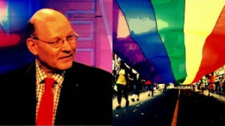 Michael Coren (l), gay pride parade (r)