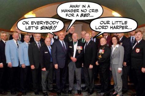 Satirical photo: Fantino and Legionnaires singing