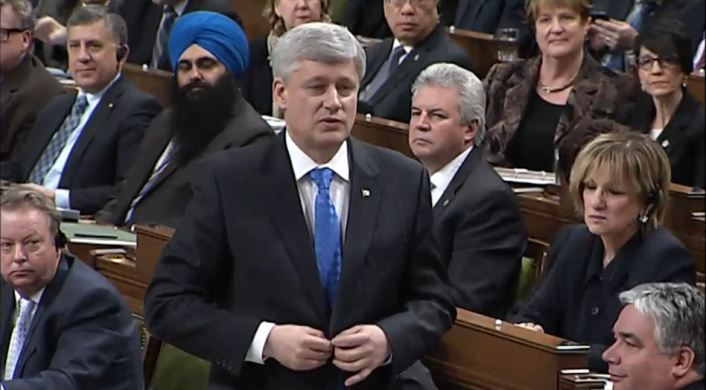 Stephen Harper in House of Parliament
