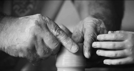 Screenshot of potters' hands from Canada Council video