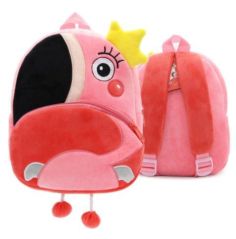 Children small school animal backpack Backpack Flamingos