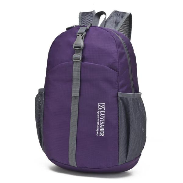 Foldable Waterproof Lightweight Climbing Outdoor Sports Backpack Backpack Purple