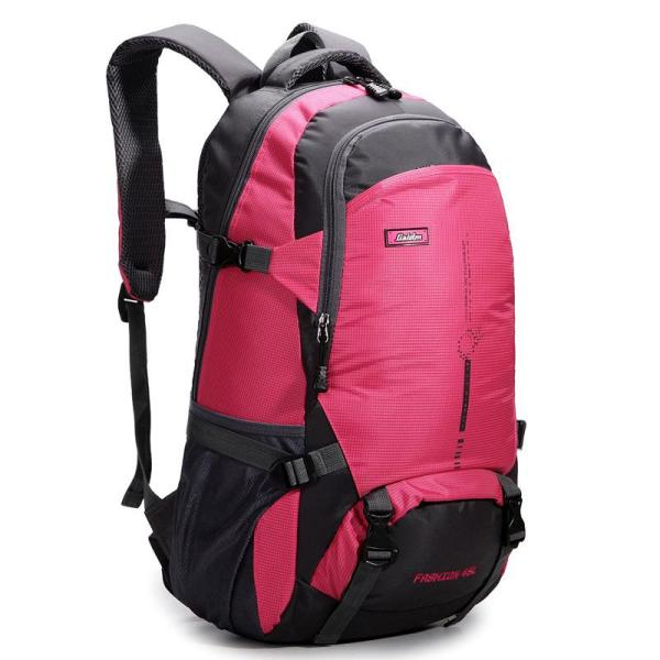 Waterproof and breathable leisure travel backpack Backpack Red color