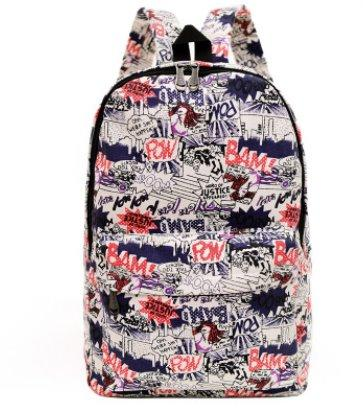 Casual men's and women's Canvas backpack Backpack 12