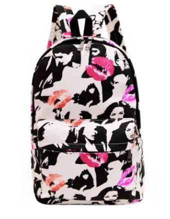 Casual men's and women's Canvas backpack Backpack 5