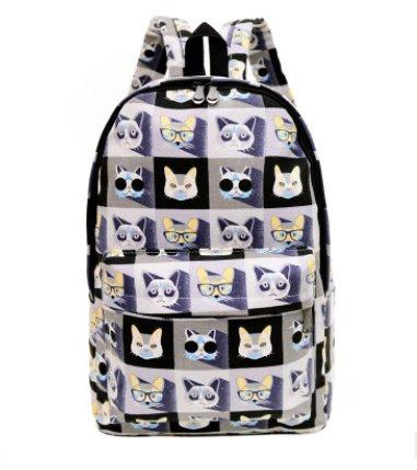 Casual men's and women's Canvas backpack Backpack 7
