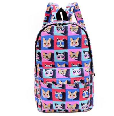 Casual men's and women's Canvas backpack Backpack 8