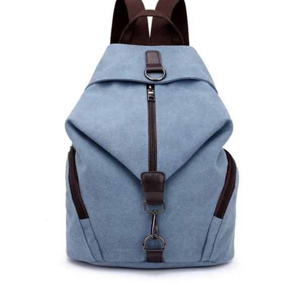 High Quality Canvas Women Backpack Backpack Gray blue