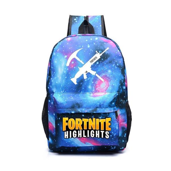 Game style juvenile casual School backpack Backpack Star blue