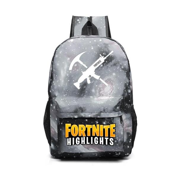 Game style juvenile casual School backpack Backpack Starry black