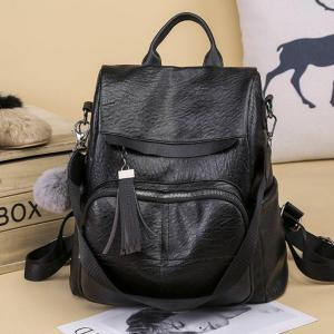 Fashion PU leather Women Backpack Backpack Black