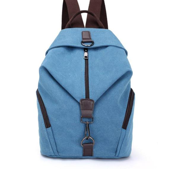 High Quality Canvas Women Backpack Backpack Blue