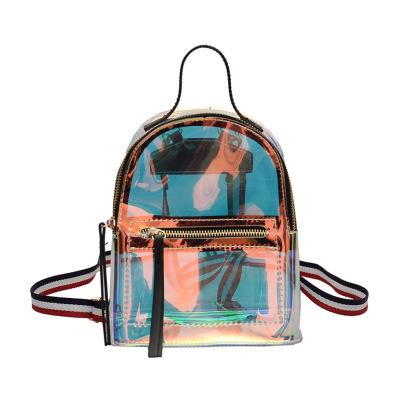 Laser school Women Mini backpack Backpack Τransparent