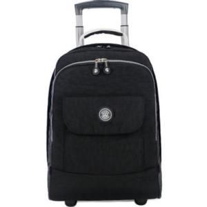 17 inch Rolling Luggage Backpack Carry on Duffle Bag Backpack Black