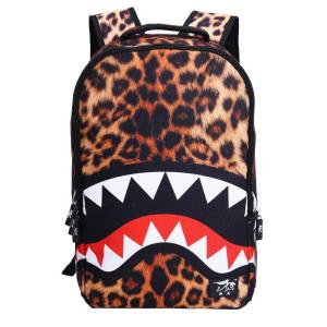 Cool shark teeth fashion School backpack Backpack Yellow