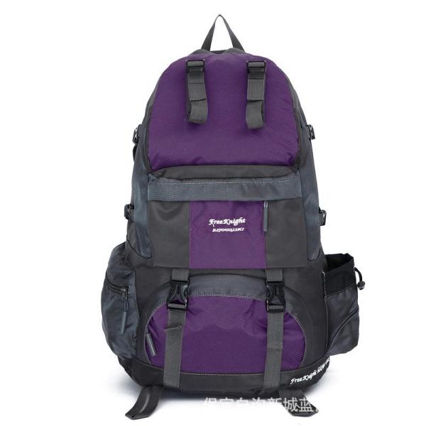 Large capacity outdoor mountaineering backpack Backpack Purple