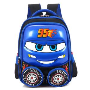 3D Car Child School Backpack Backpack Blue