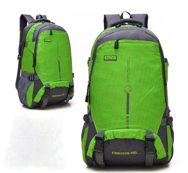 Waterproof and breathable leisure travel backpack green