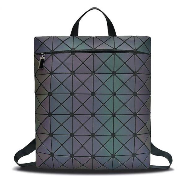 Magic color geometric square rhombic backpack Backpack Magic color