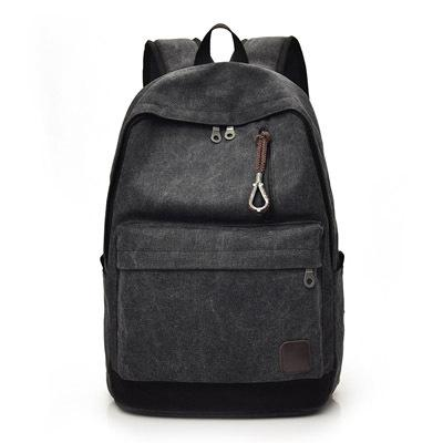Fashion retro Casual backpack Backpack Black