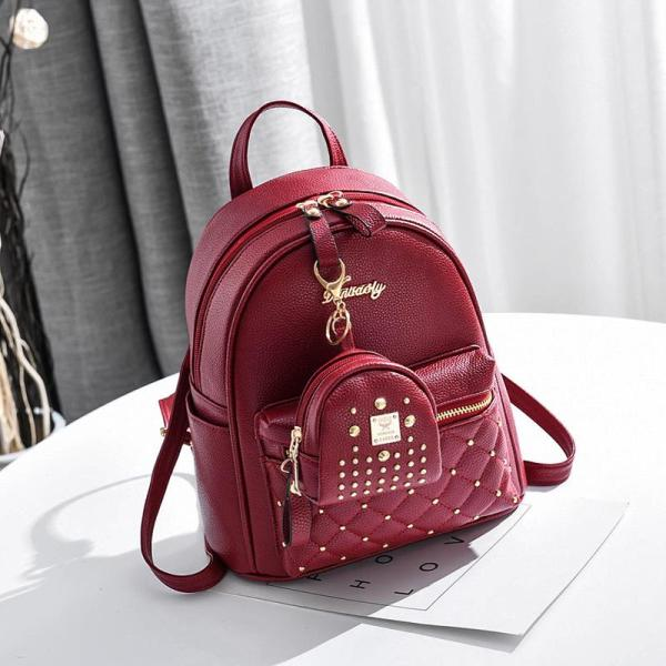 Spring and summer Women fashion leisure backpack 2 sets Backpack Red
