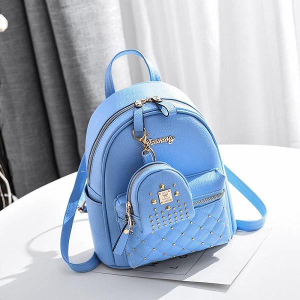 Spring and summer Women fashion leisure backpack 2 sets Backpack Blue