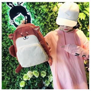 Cartoon animal dog fox corduroy backpack Backpack Fox