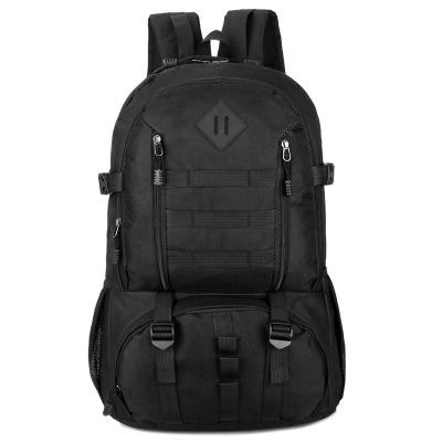 Outdoor mountaineering Travel backpack camouflage Backpack Black