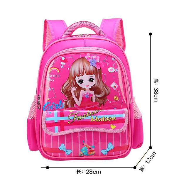 Cartoon boys and girls backpack Backpack Mei red Sweet princess