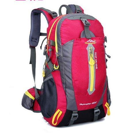 Hiking camping sports backpack Backpack Rose red