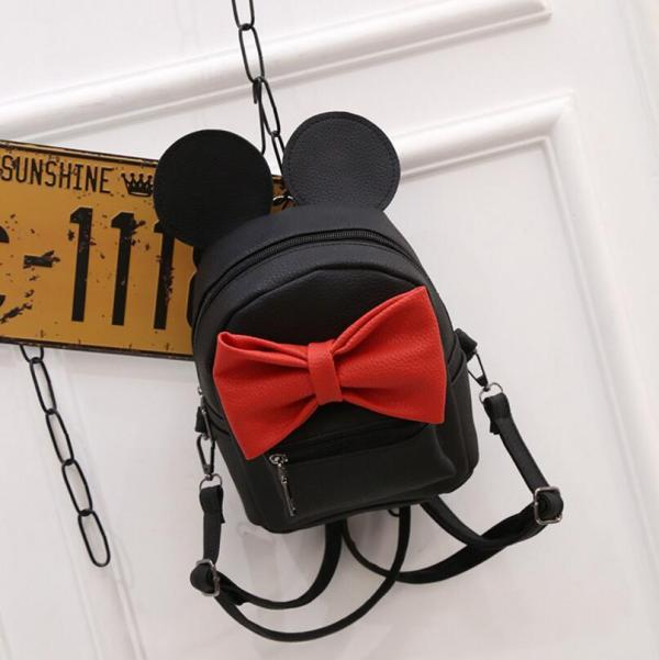 Cute Mickey Kids backpack Backpack Black