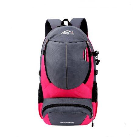 Outdoor Travel bag leisure Sports backpack Backpack Rose red