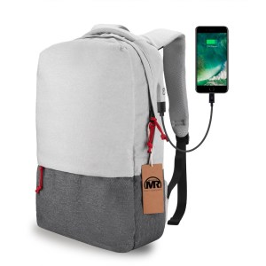 Casual unisex School backpack multi-function grey