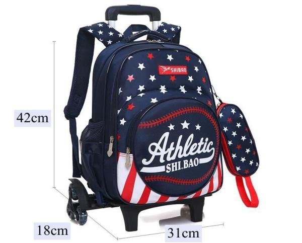 British style Trolley backpack for boys and girls Backpack Navy blue