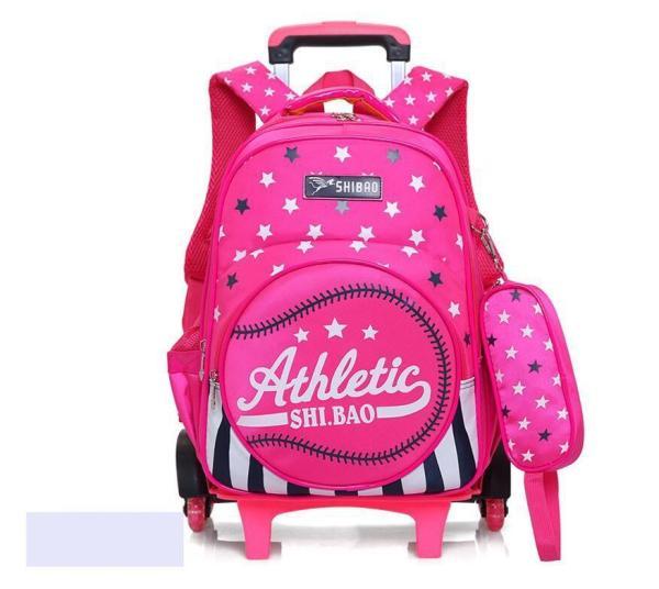 British style Trolley backpack for boys and girls Backpack Rose Red