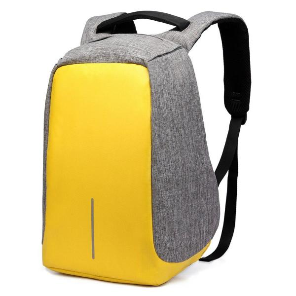 Ozuko new Oxford cloth Laptop backpack Backpack Yellow S