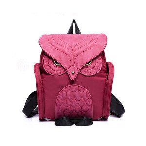 Women's Owl Fashion backpack rose red