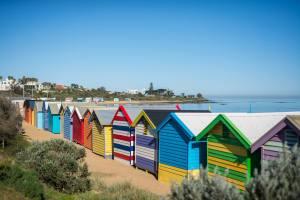 Melbourne, Strand, Hütten, Sand, Meer